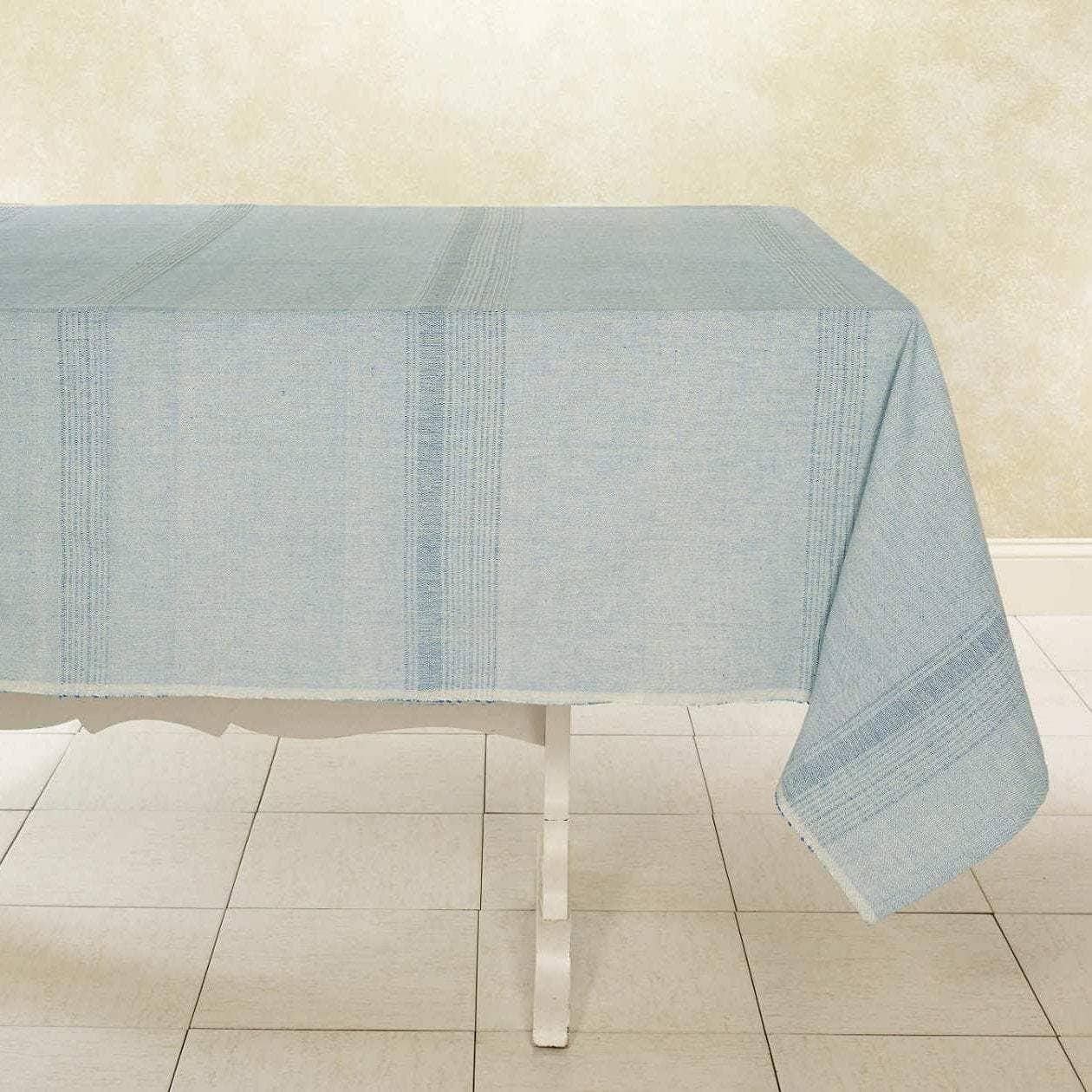 Juniper Berry Tablecloth Handwoven Cotton | Trada Marketplace