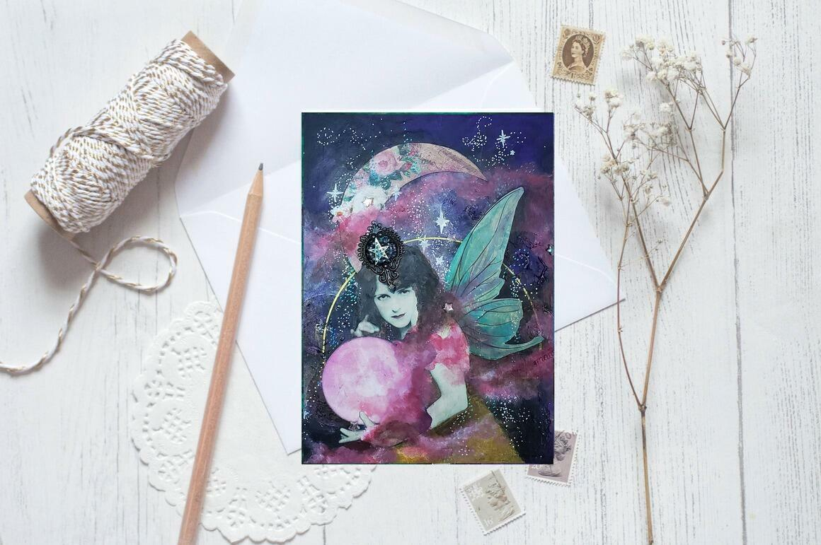 Moon Greeting Cards pkg of 5   Trada Marketplace