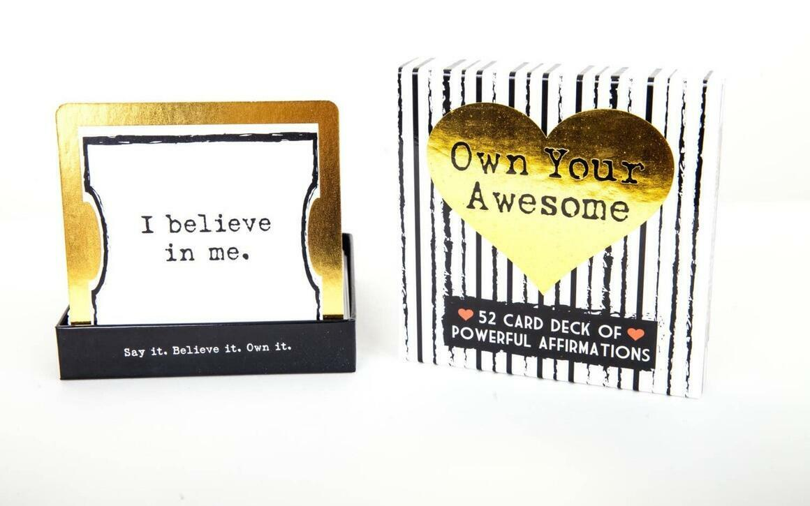Own Your Awesome Affirmation Deck   Trada Marketplace