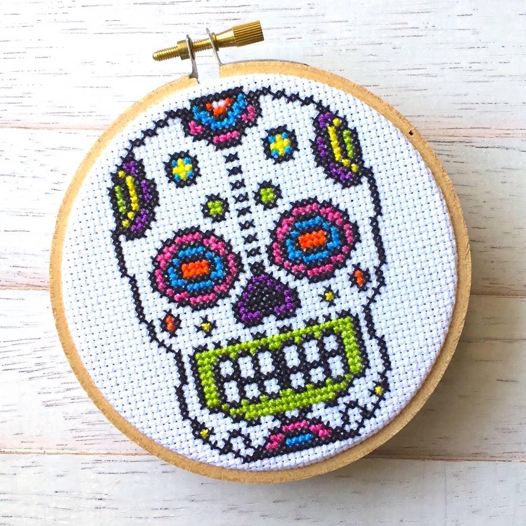Sugar Skull Cross Stitch Kit   Trada Marketplace