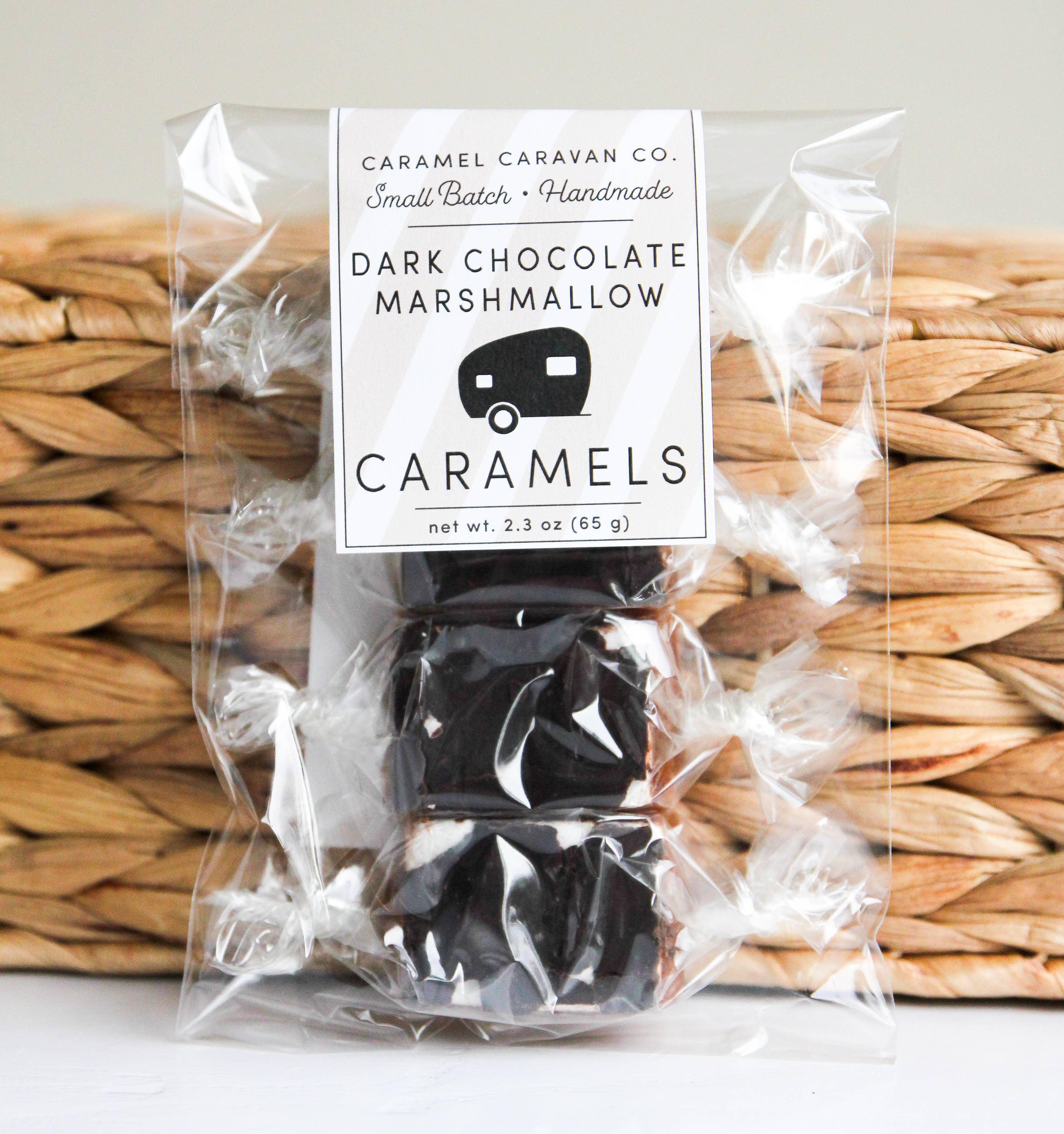 Dark Chocolate Marshmallow Caramels - 4 Piece Bag | Trada Marketplace