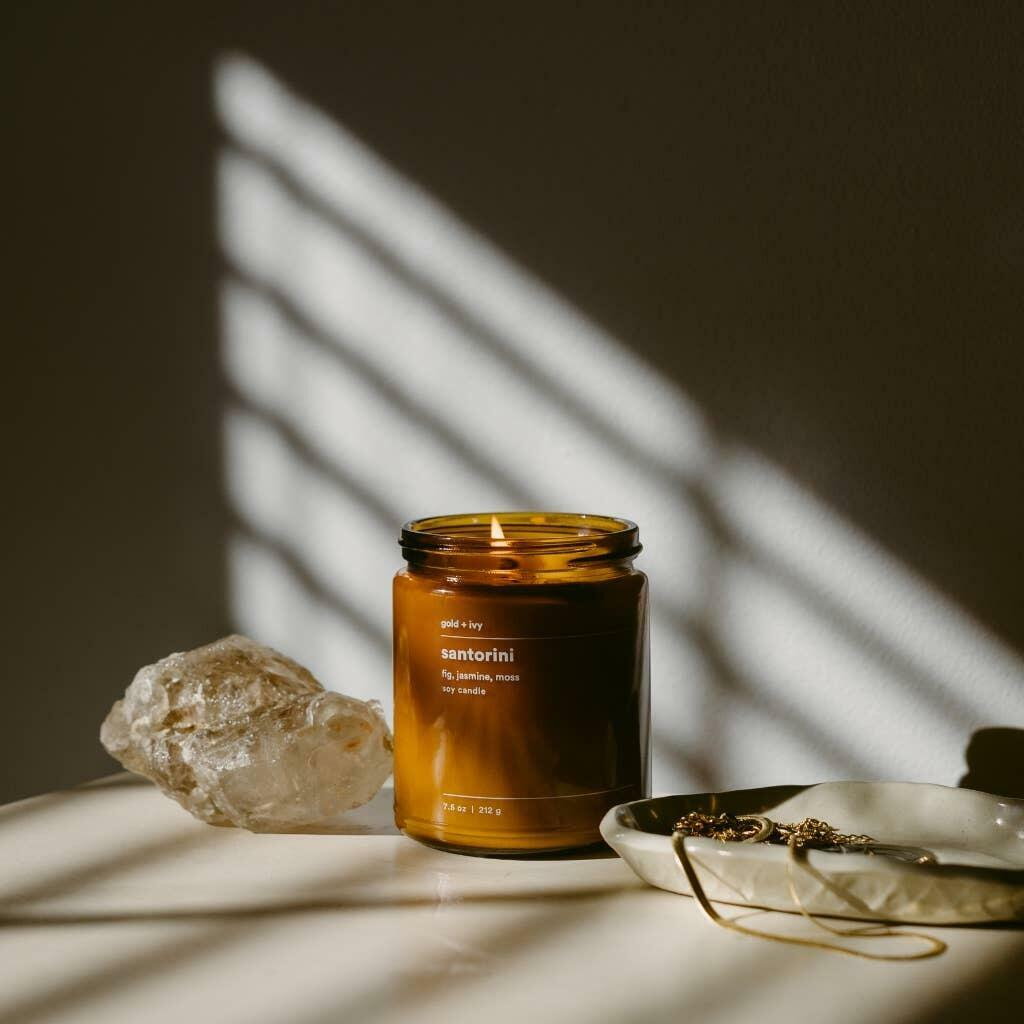 santorini 7.5 oz. soy candle - standard | Trada Marketplace