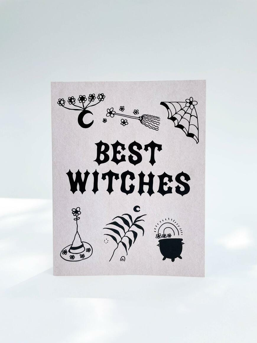 Best Witches   Greeting Card   Trada Marketplace