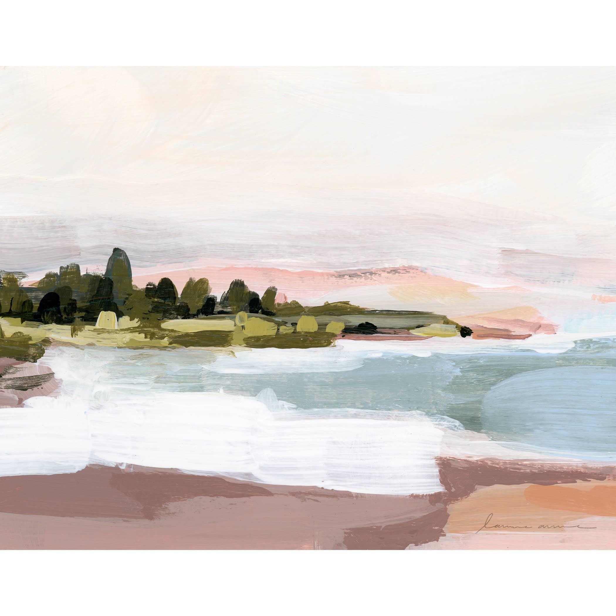 Sunset Shore Horizontal Canvas Print   Trada Marketplace