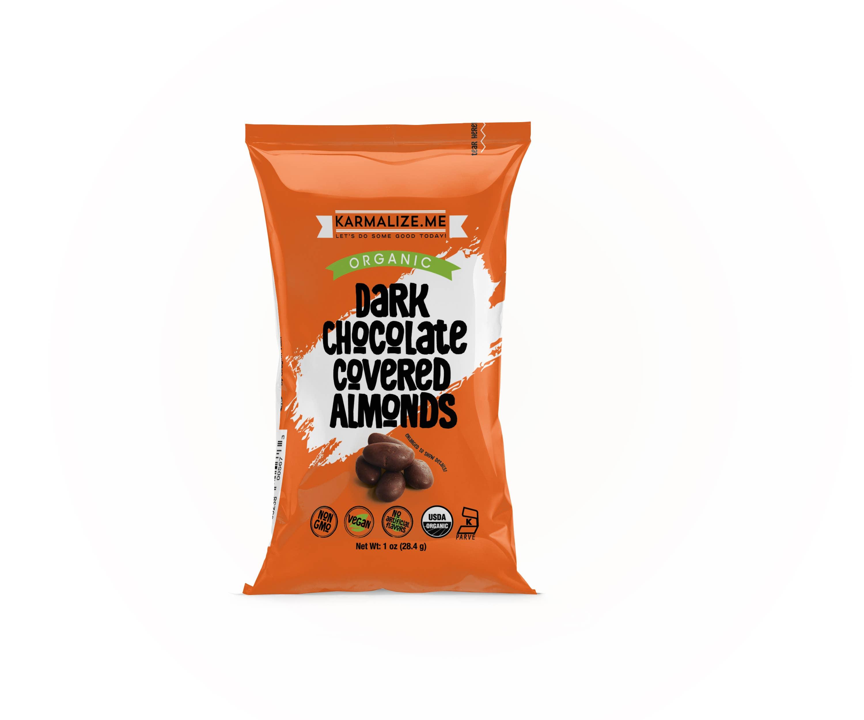Organic Chocolate Raw Almonds  - 1 oz | Trada Marketplace