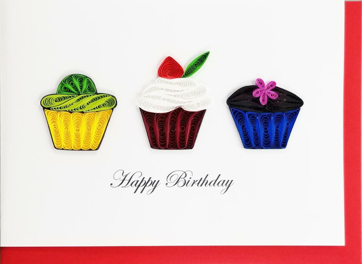 Happy Birthday 3 Cupcakes   Trada Marketplace