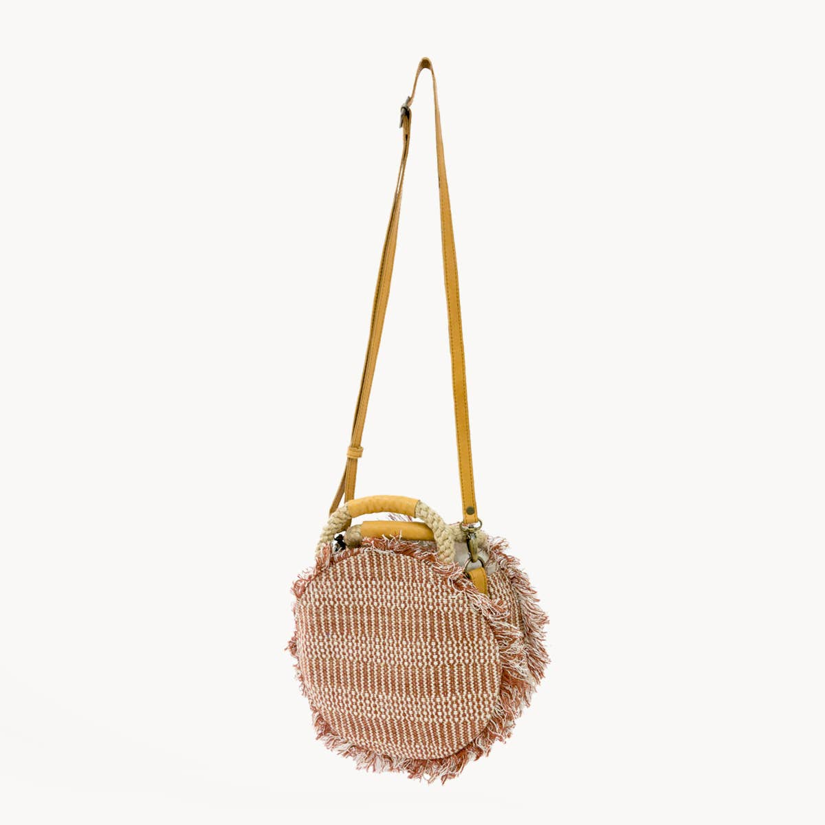 Dobi Round Bag - Brown | Trada Marketplace