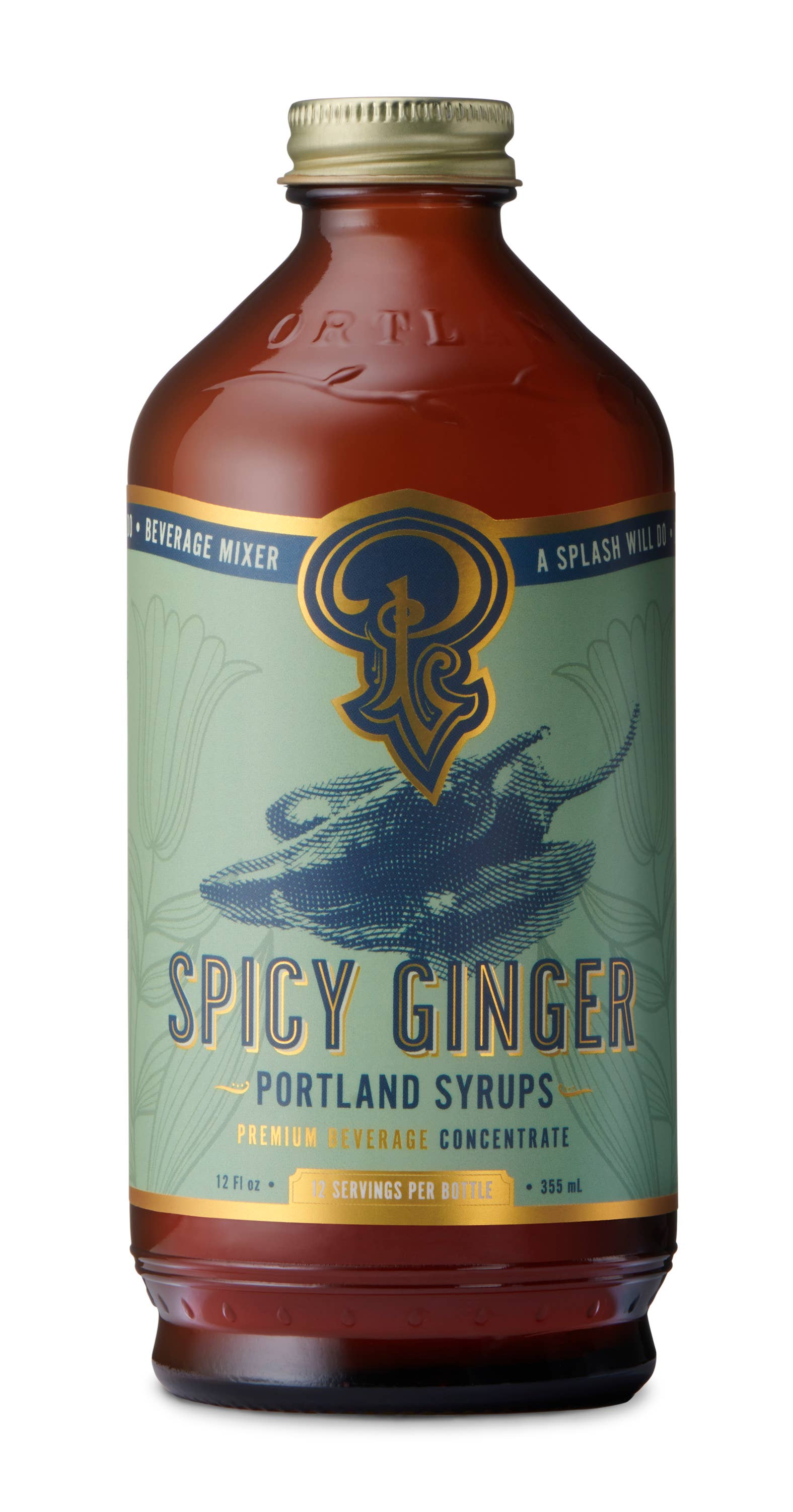 Spicy Ginger Syrup (12oz) | Trada Marketplace