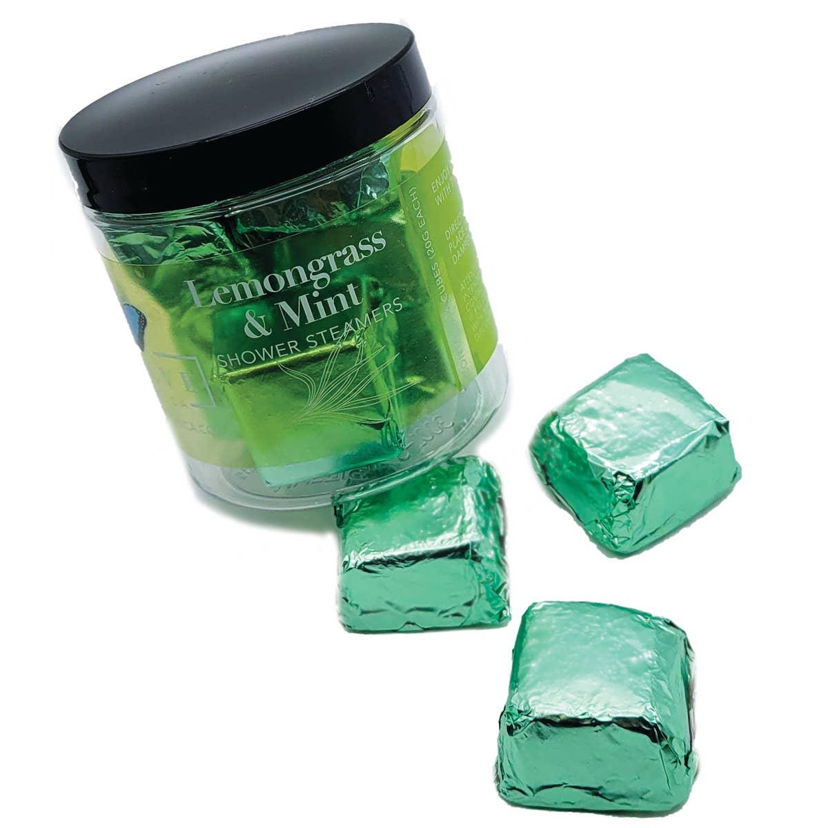Evolve - Shower Steamers - Lemongrass Mint (6 per jar) | Trada Marketplace