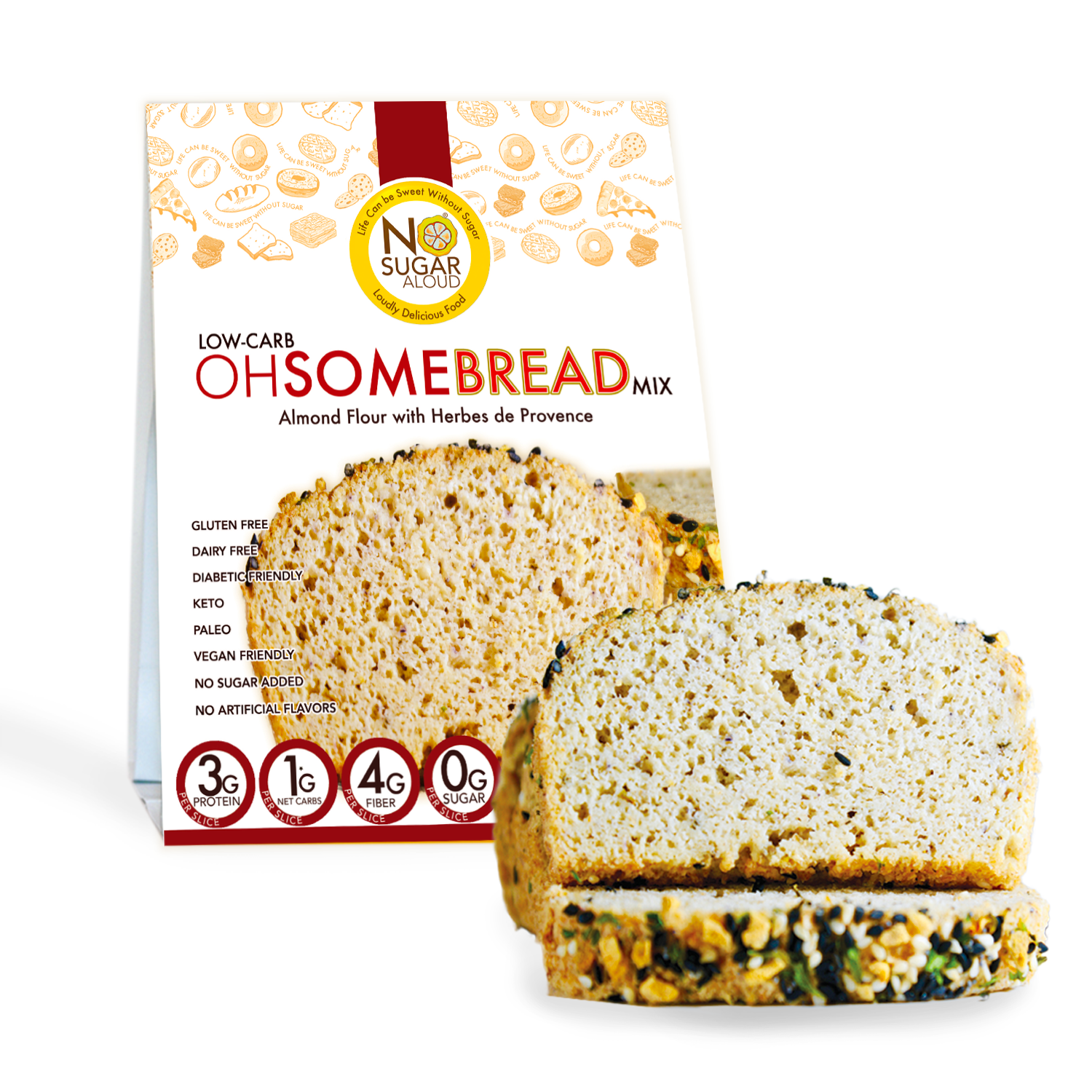 Low-Carb OhSome Bread - Herbs de Provence Mix   Trada Marketplace