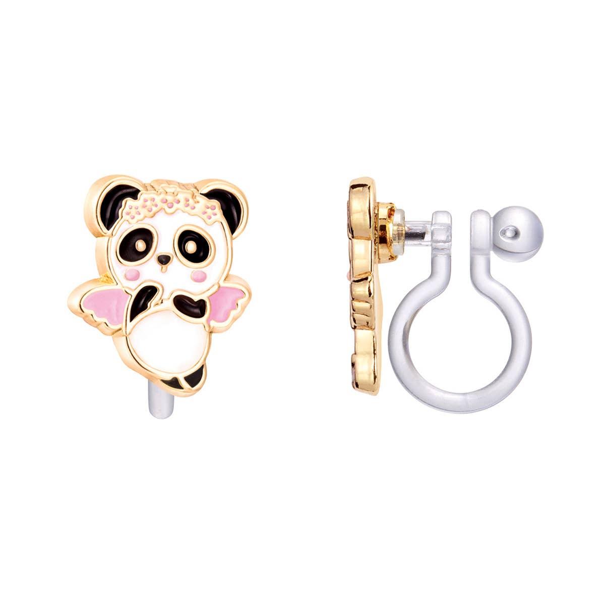 CLIP ON Cutie Earrings- Panda Angel   Trada Marketplace