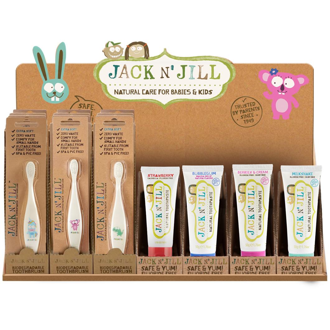 Jack N' Jill Toothpaste & Toothbrush Counter Display | Trada Marketplace