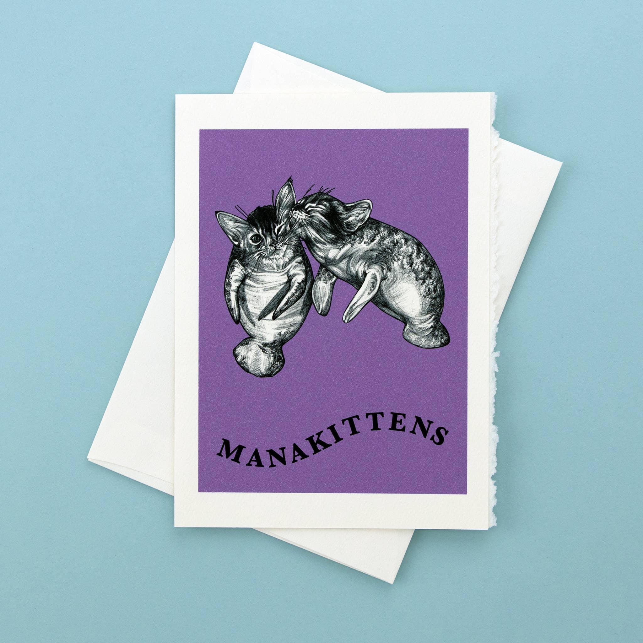 "Manakittens 5x7"" Greeting Card   Trada Marketplace"