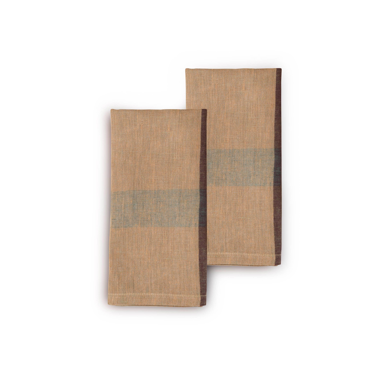 OLIVE CROSTINI Napkin (set of 2), Handwoven Flax Linen | Trada Marketplace