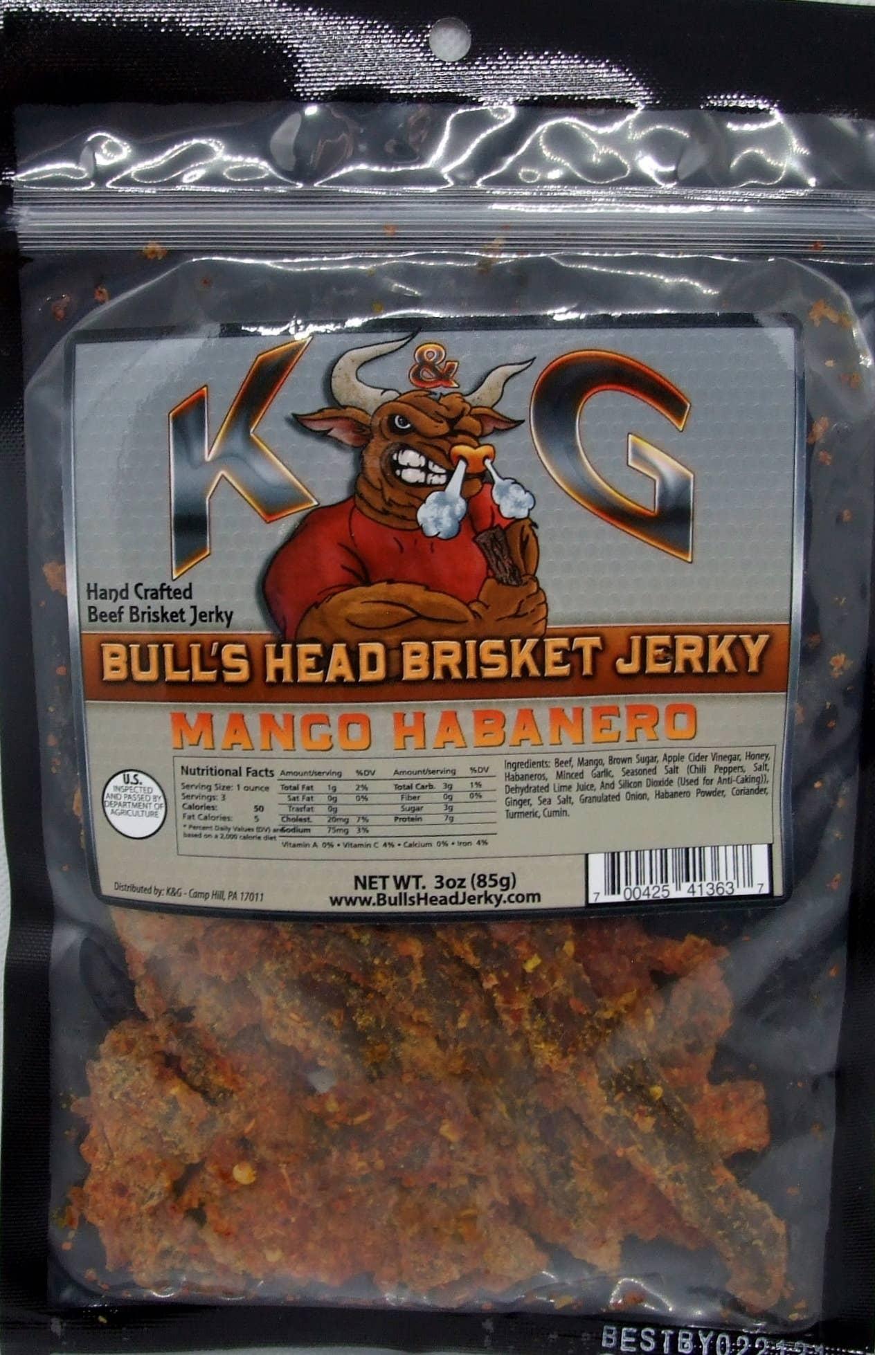 3 oz Mango Habanero Brisket Beef Jerky | Trada Marketplace
