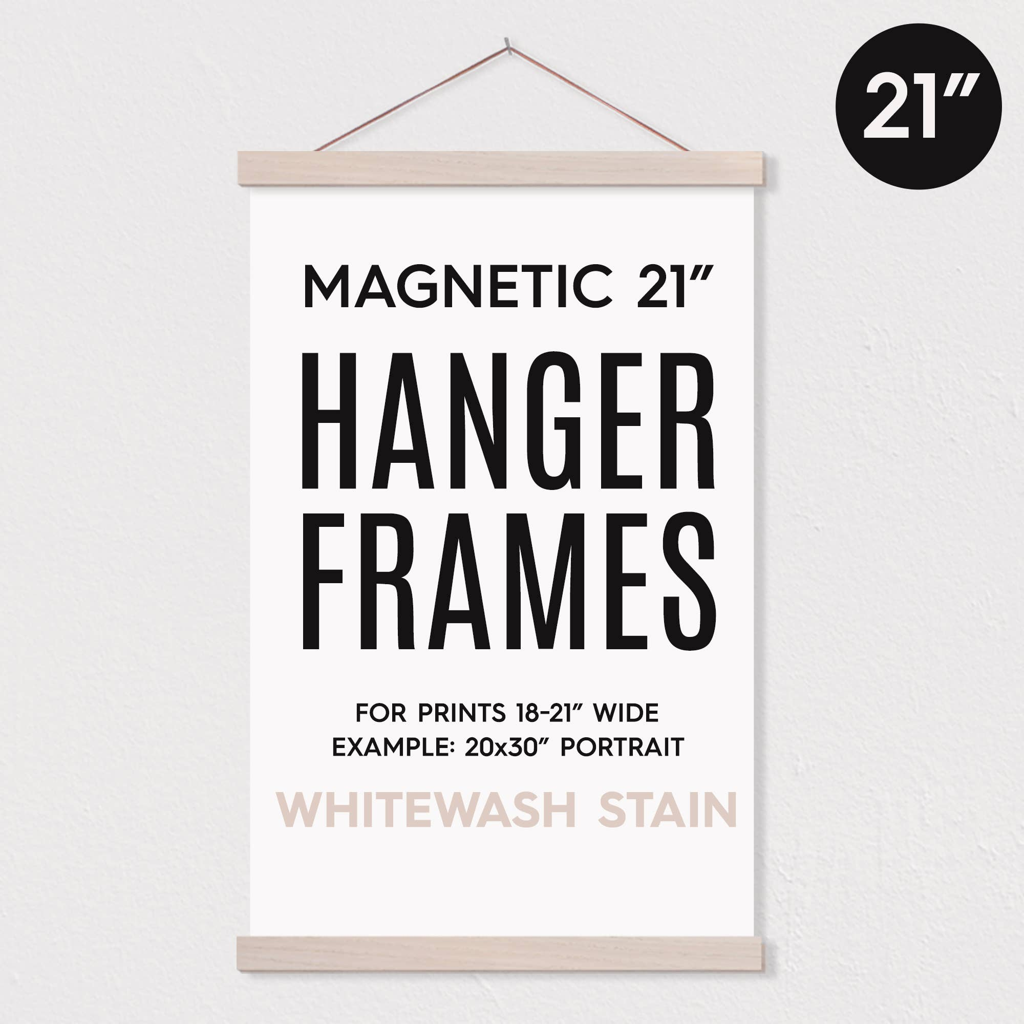 "21"" MAGNETIC Poster Hanger Frame™ for 20x30"" Portrait Print   Trada Marketplace"