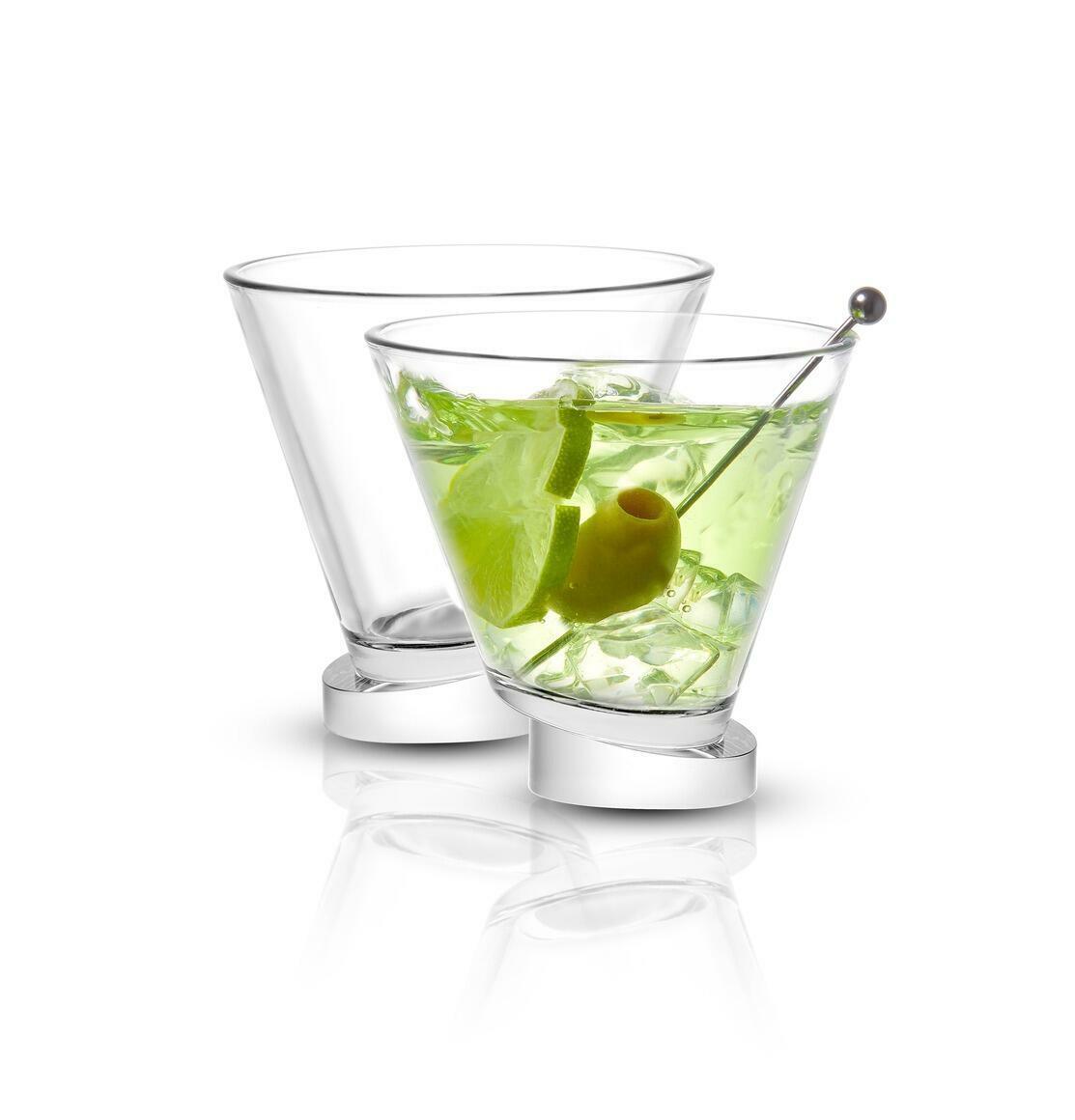 Aqua Vitae Round Crystal Martini Glass, 8.6oz (Set of 2)  | Trada Marketplace