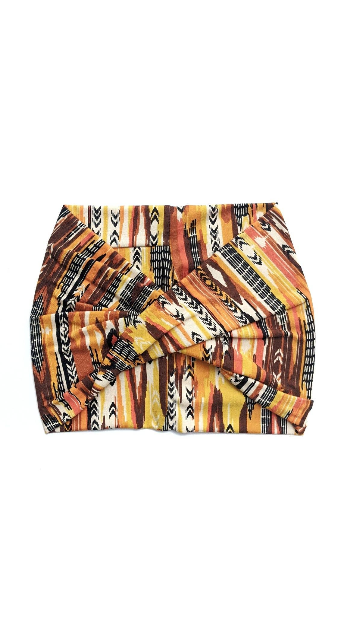 Autumn Stripes - Wide Headband | Turban | Twist | Yoga | Trada Marketplace