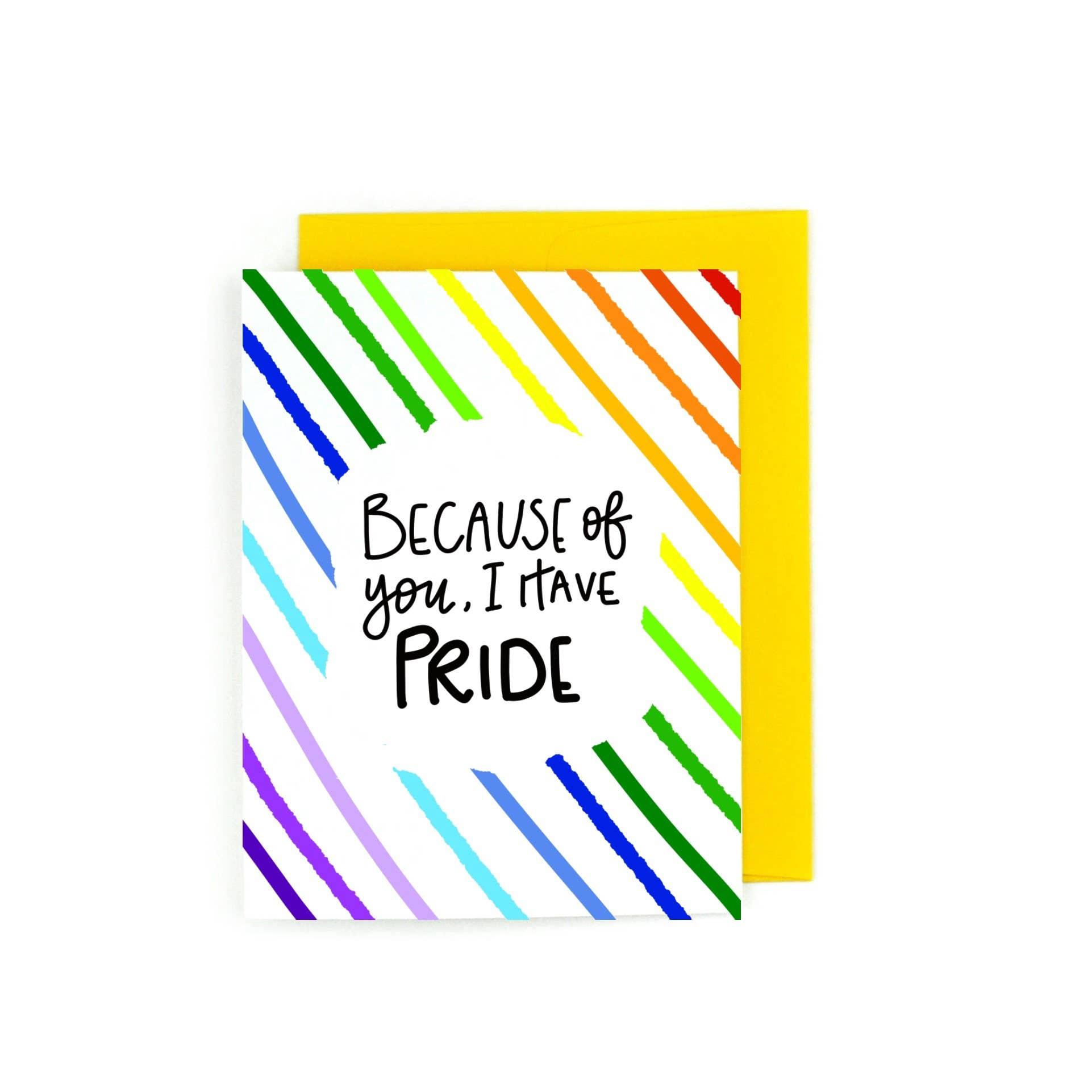 Because of You I always Have Pride LGBTQ, LGBTQIA | Trada Marketplace