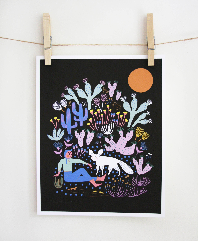 Fox Tamer Art Print | Trada Marketplace