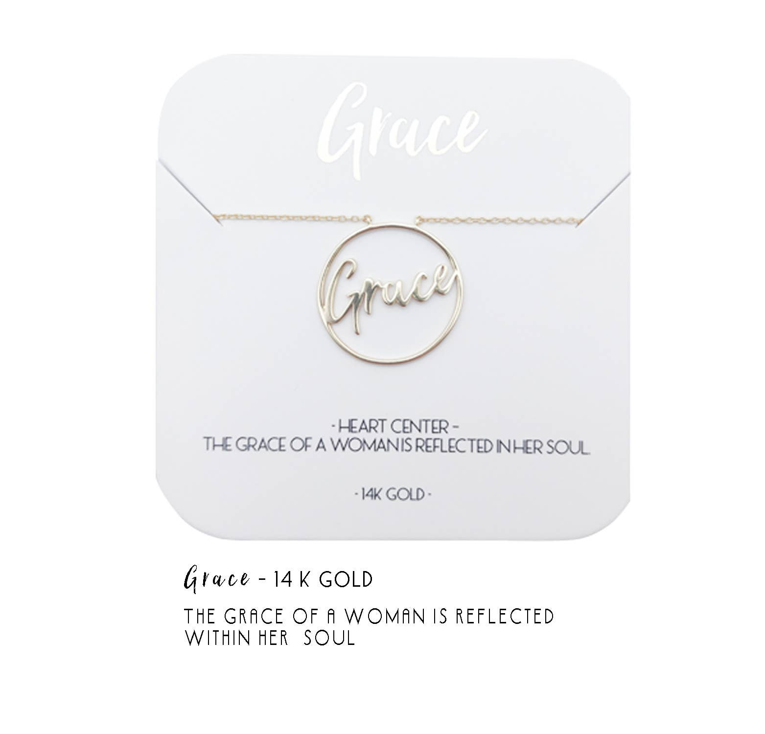 Grace Heart Center Necklace | Trada Marketplace