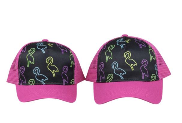 Pink Retro Flamingo Trucker Hat | Trada Marketplace