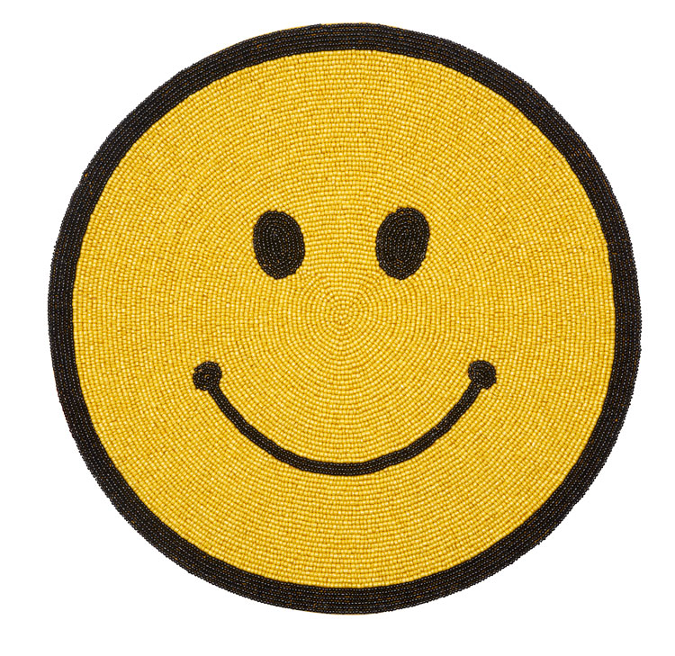 Beaded Smile Placemat / Set of 4   Trada Marketplace