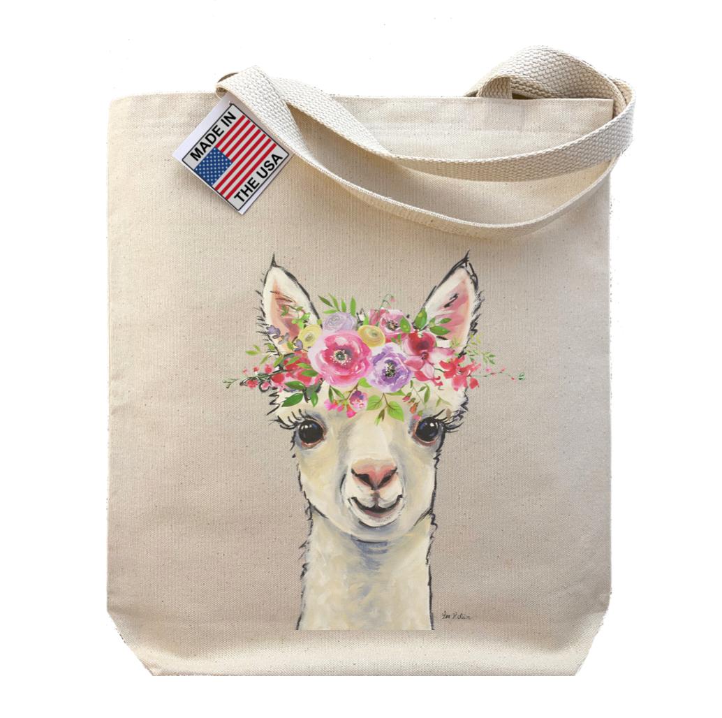 Spring Flower Baby Alpaca Tote Bag, Gusset Tote Bag   Trada Marketplace