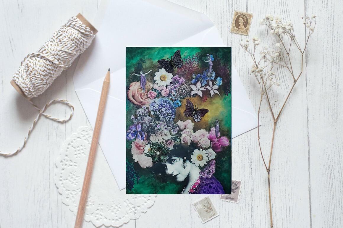 Flower Greeting Cards pkg of 5   Trada Marketplace