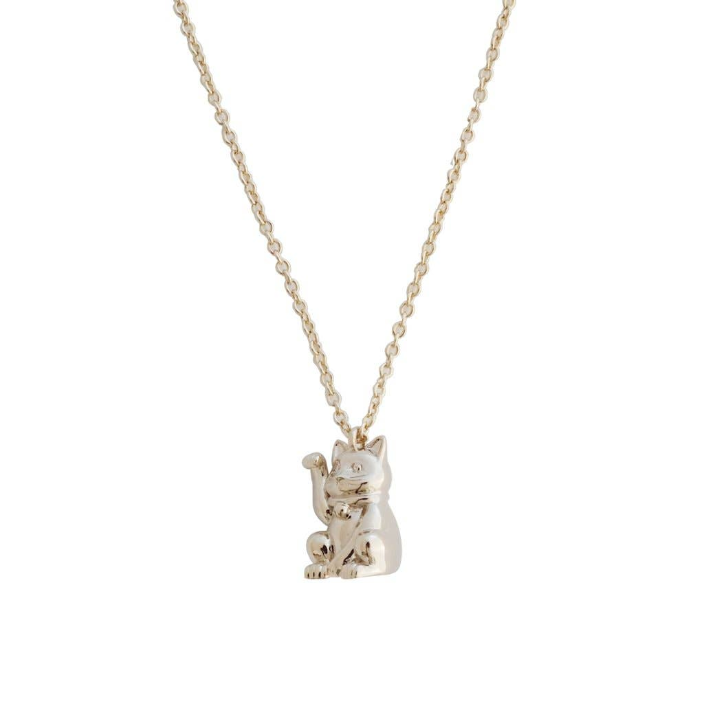 Lucky Cat Charm Necklace   Trada Marketplace