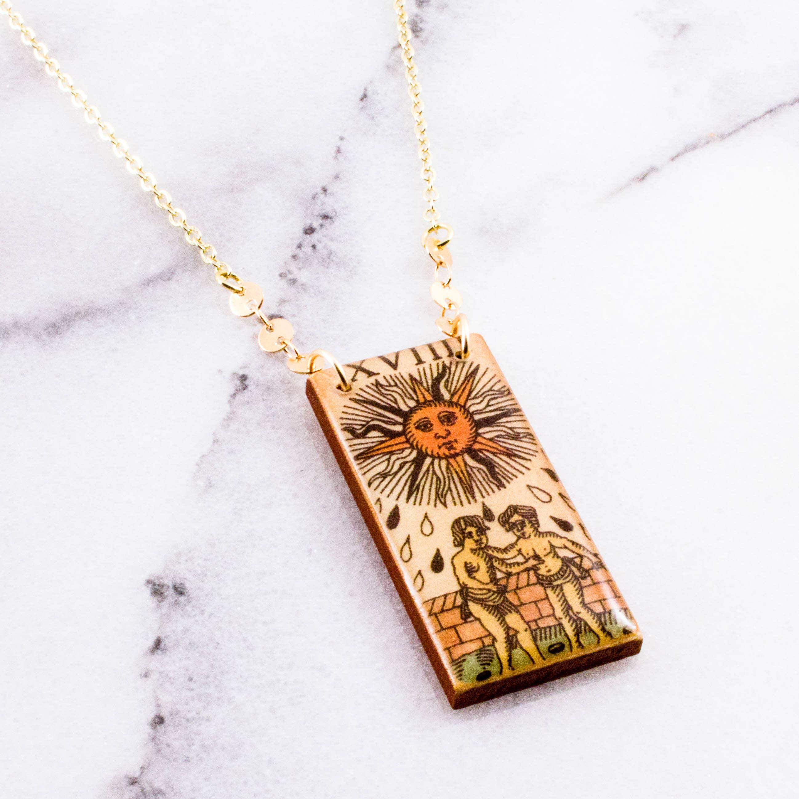 Vintage Italian Tarot Sun Necklace   Trada Marketplace