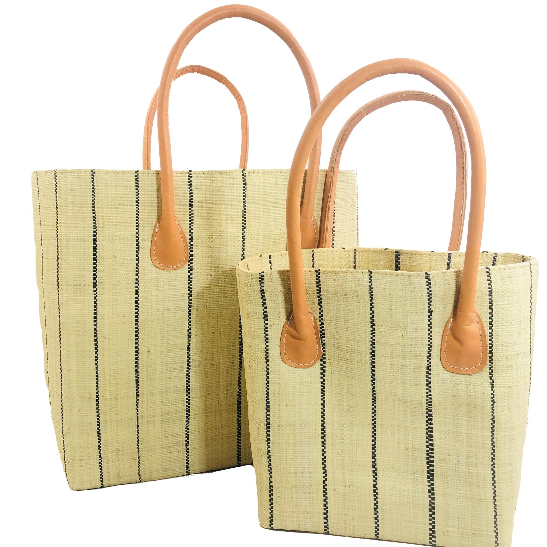 Soubic Pin Stripes Basket - Natural | Trada Marketplace