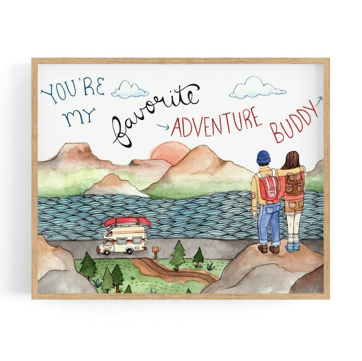 Adventure Buddy Print | Trada Marketplace