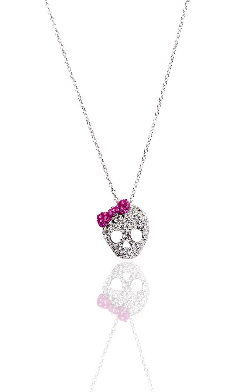 SALE! Dazzle Girl Crystal Skull Crown Necklace | Trada Marketplace