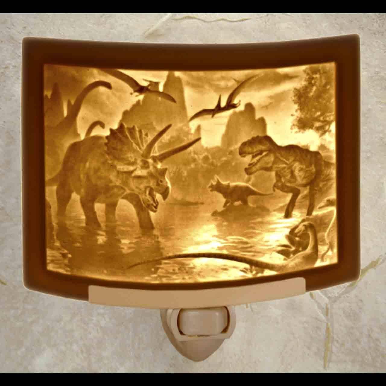 Dinosaurs Curved Night Light   Trada Marketplace