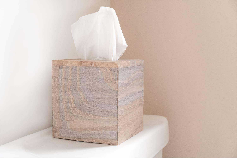Rainbow Sandstone Tissue Box   Trada Marketplace