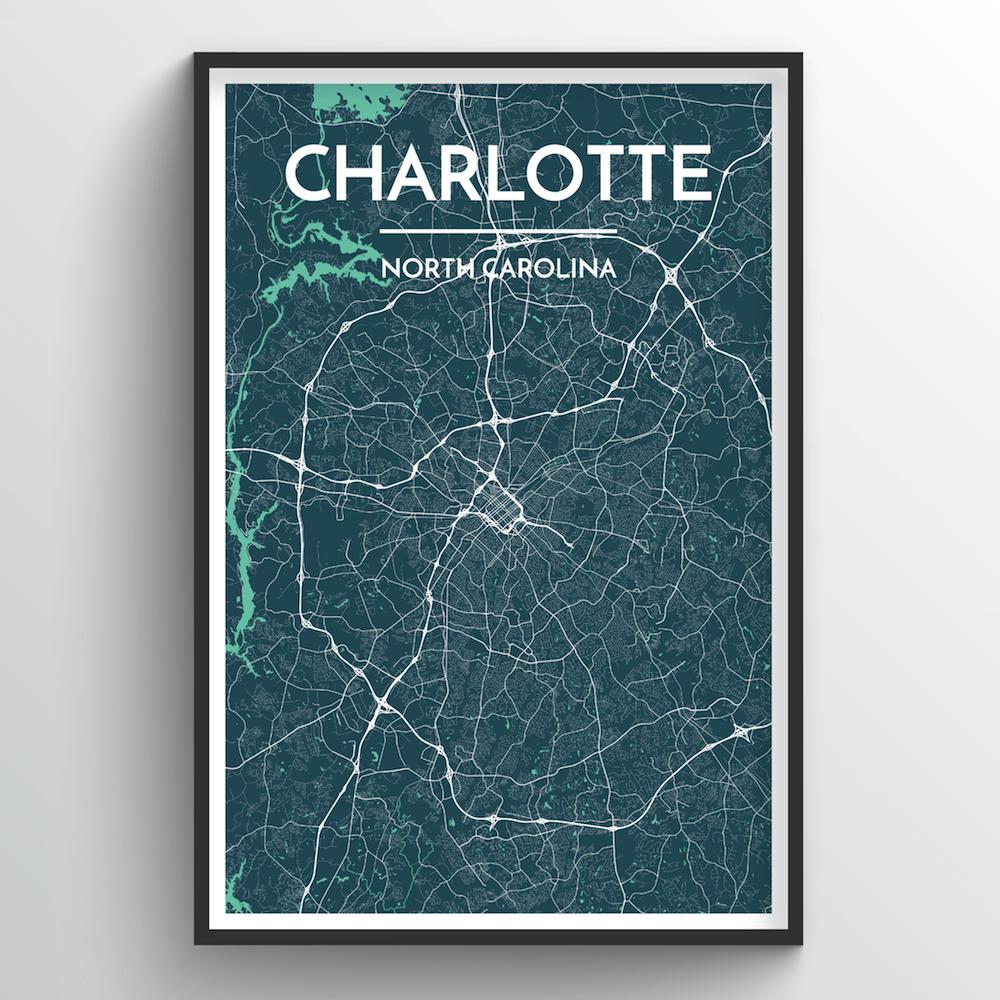 Charlotte City Map | Trada Marketplace