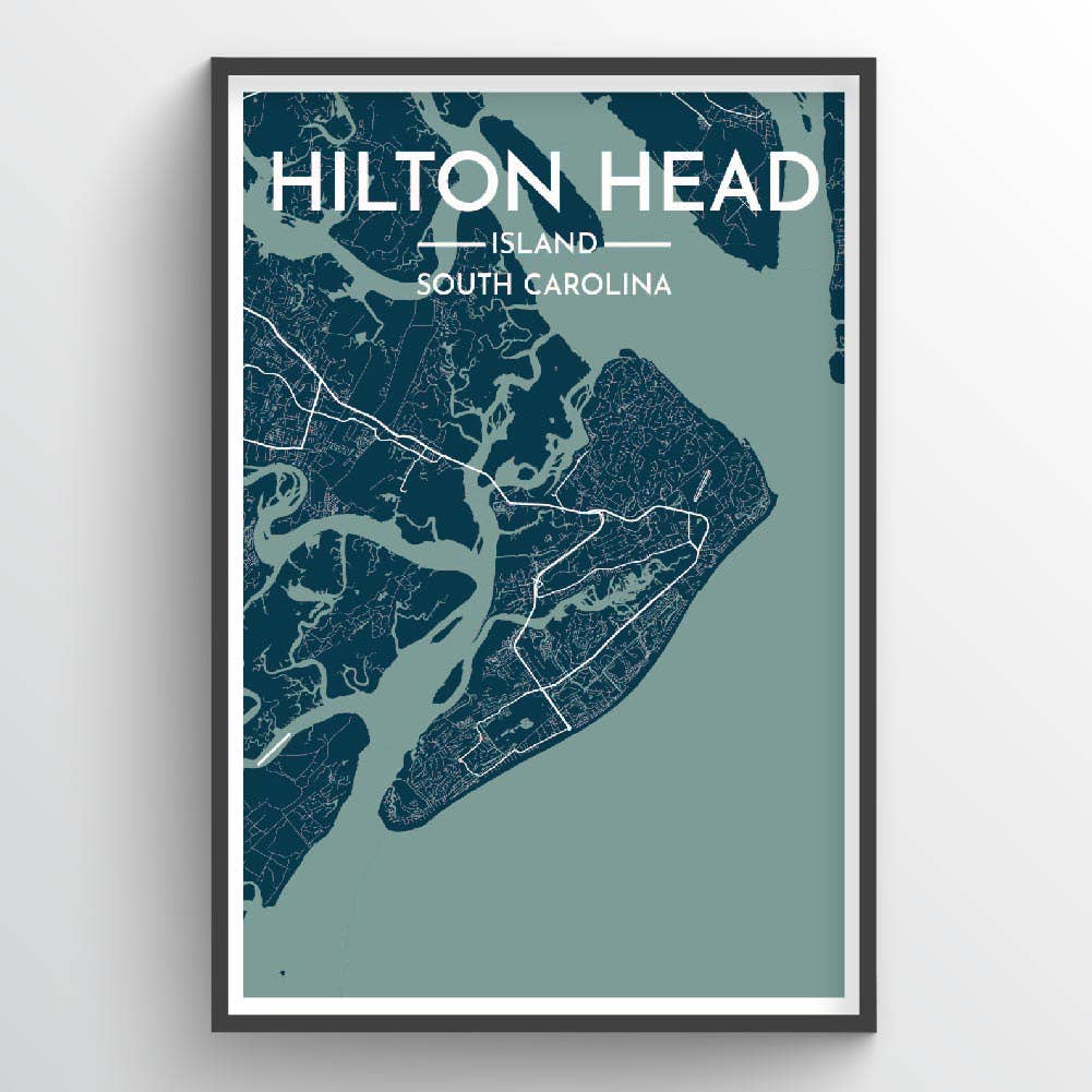Hilton Head Island, SC - City Map Print | Trada Marketplace