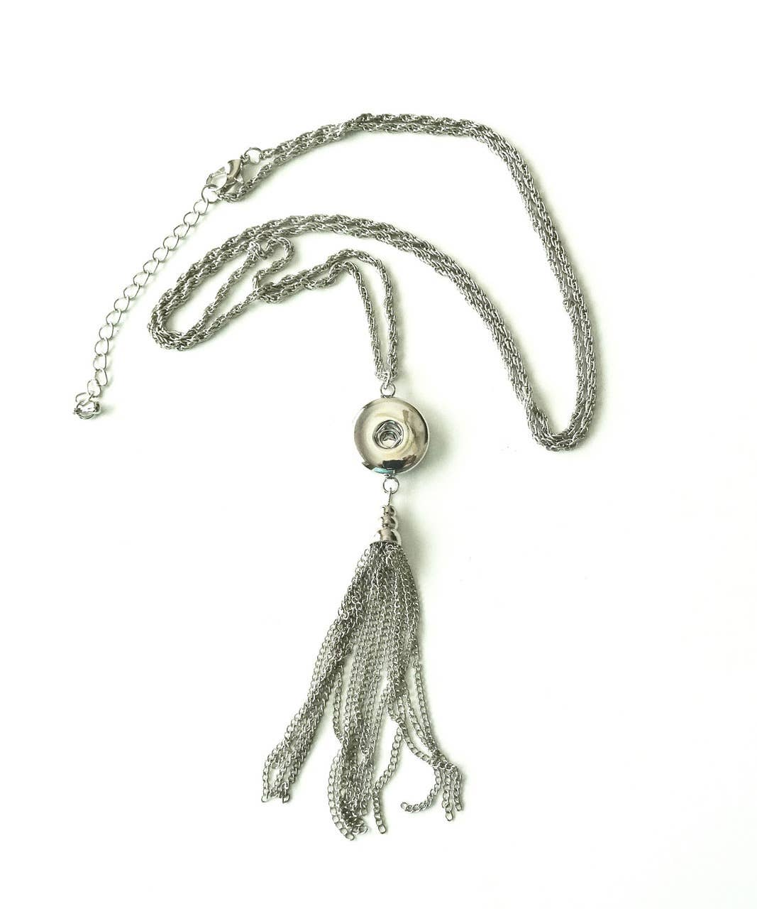 Snap Jewel Tassel Necklace - Silver | Trada Marketplace