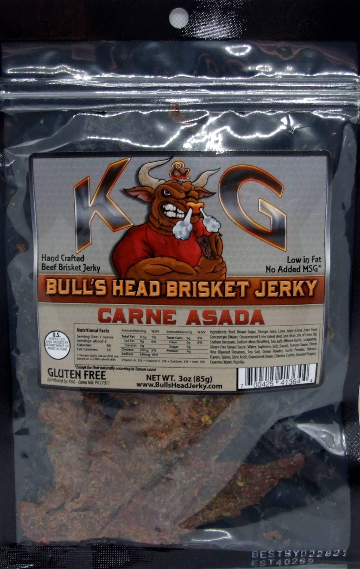 3 oz Carne Asada Brisket Beef Jerky | Trada Marketplace