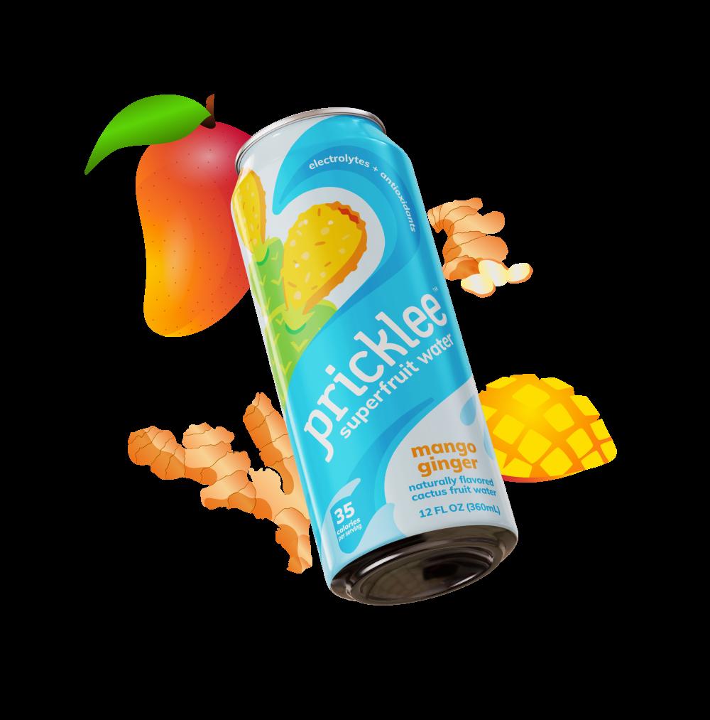 Pricklee Cactus Water - Mango Ginger (12-pack) | Trada Marketplace