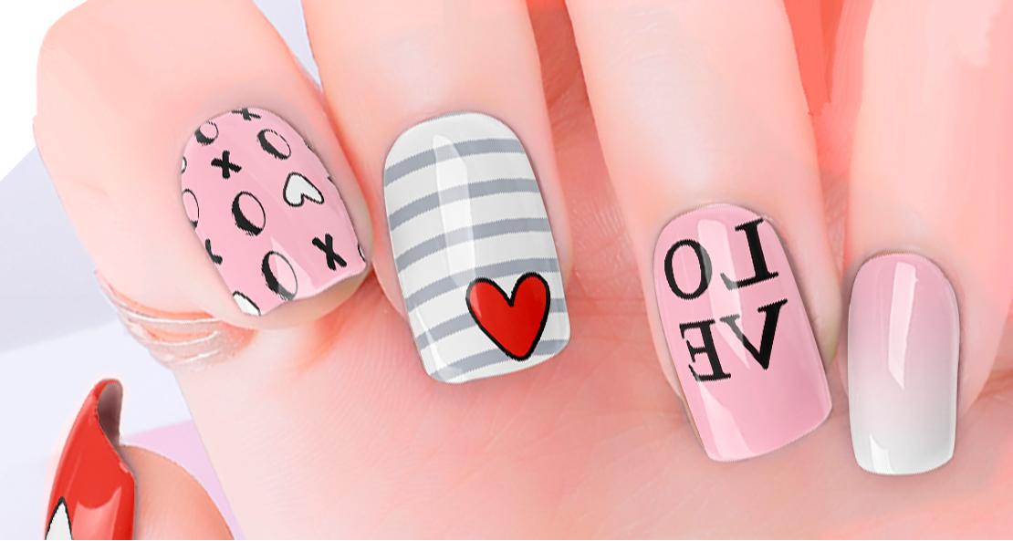Love Heart Nail Wraps | Trada Marketplace
