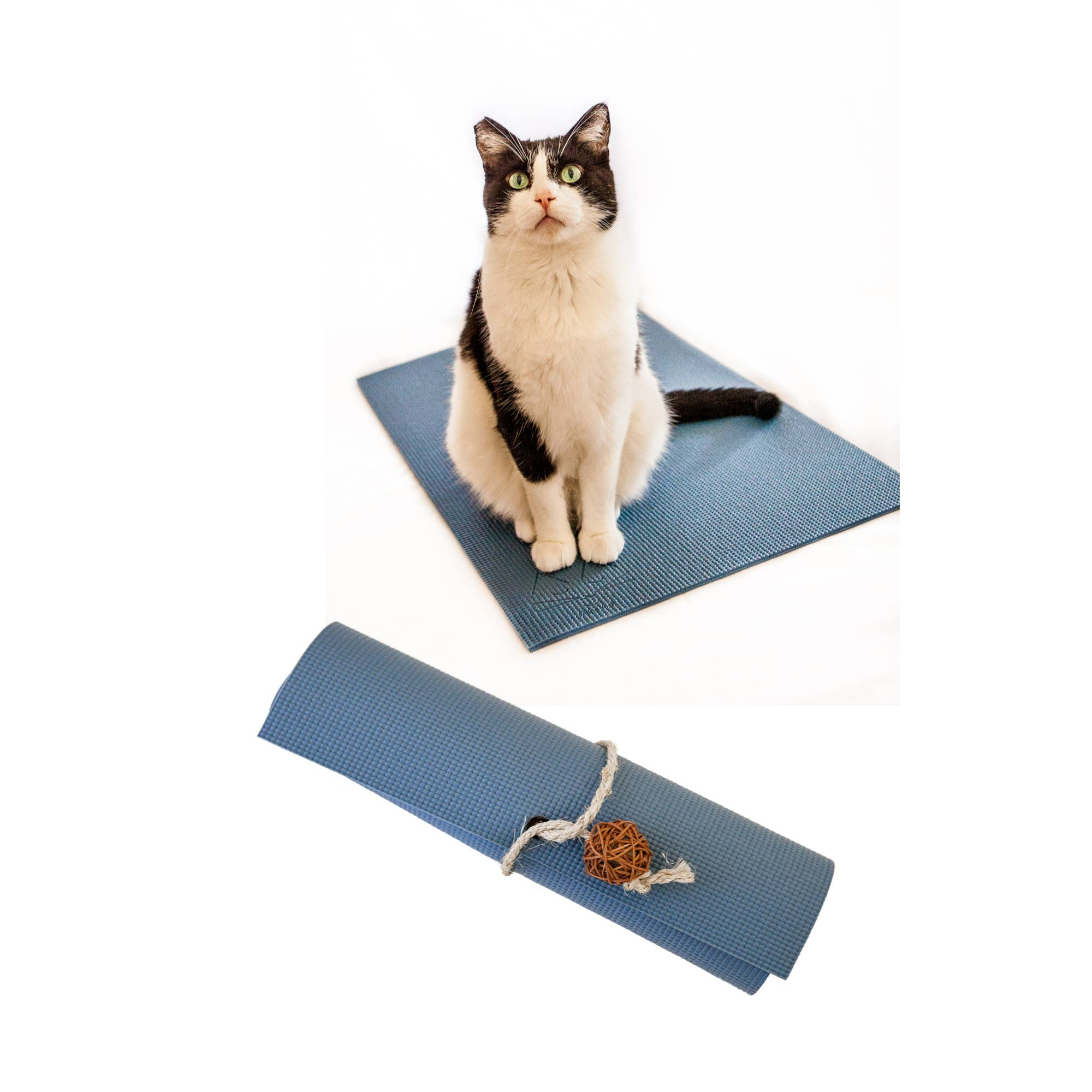 Slate Blue Yoga Cat Mat   Trada Marketplace