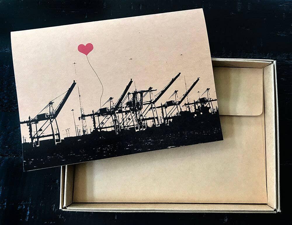 Oakland Port of Oakland Cranes Single Card | Trada Marketplace
