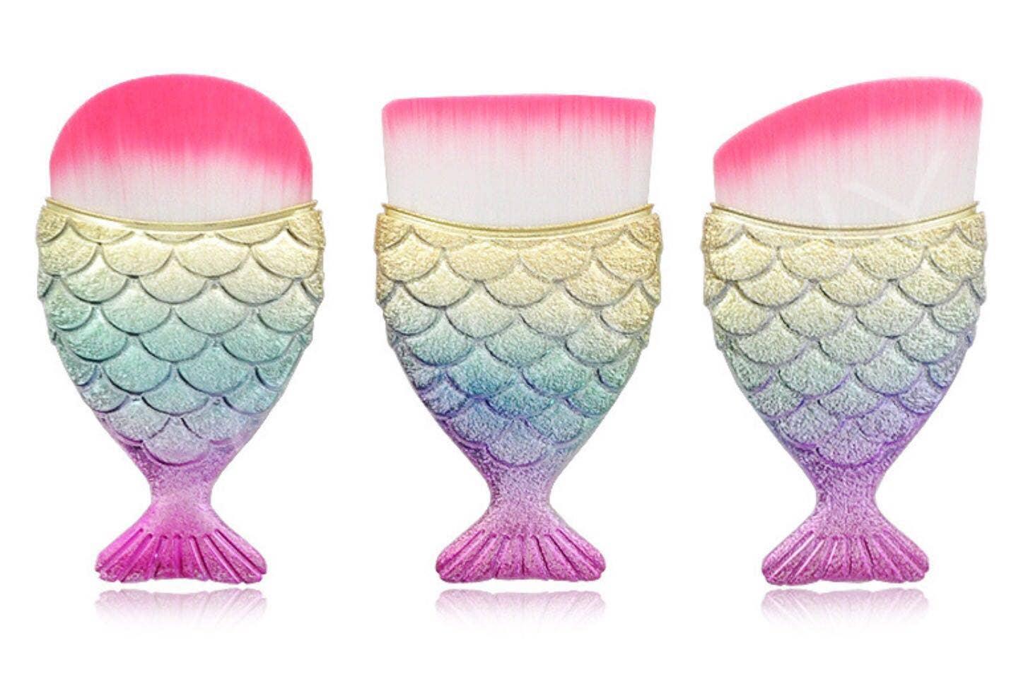 Single Mermaid Tail Brush Set - Rainbow    Trada Marketplace