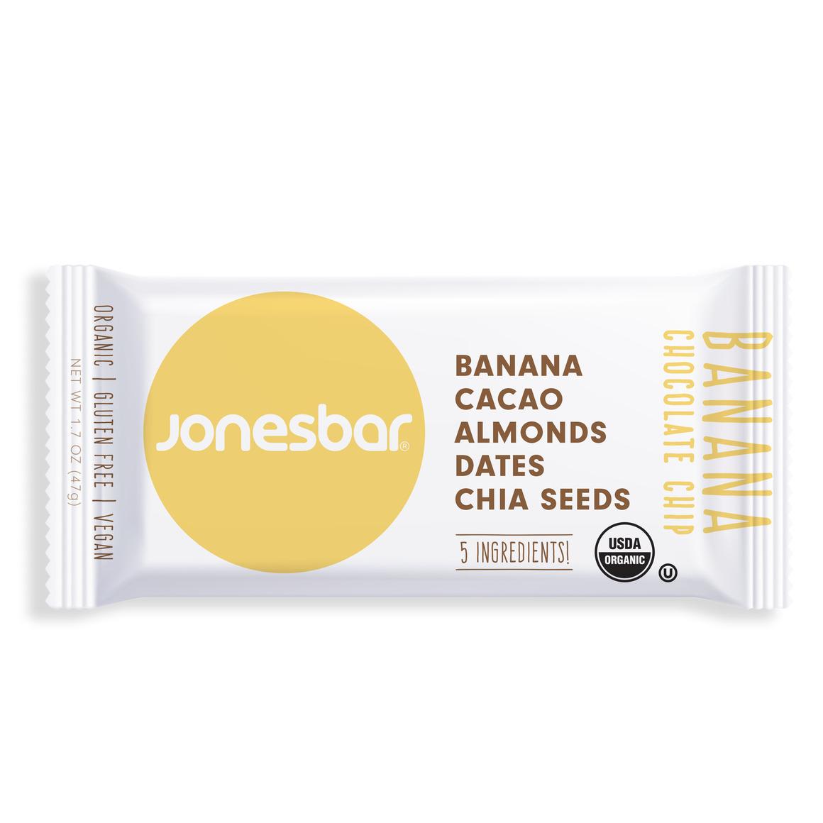 Jonesbar Banana Chocolate Chip Organic Energy Bar | Trada Marketplace