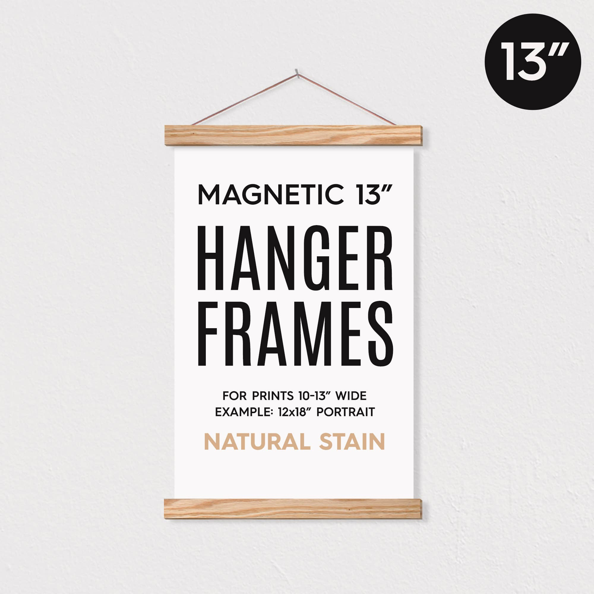 "13"" MAGNETIC Poster Hanger Frame™ for 12x18"" Portrait Prints   Trada Marketplace"