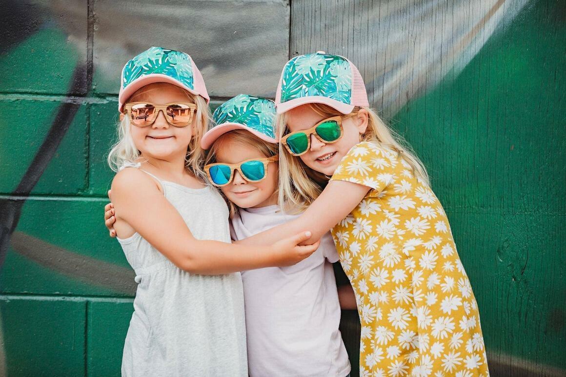 Zebra Wood Wooden Polarized Sunglasses - Blue | Trada Marketplace