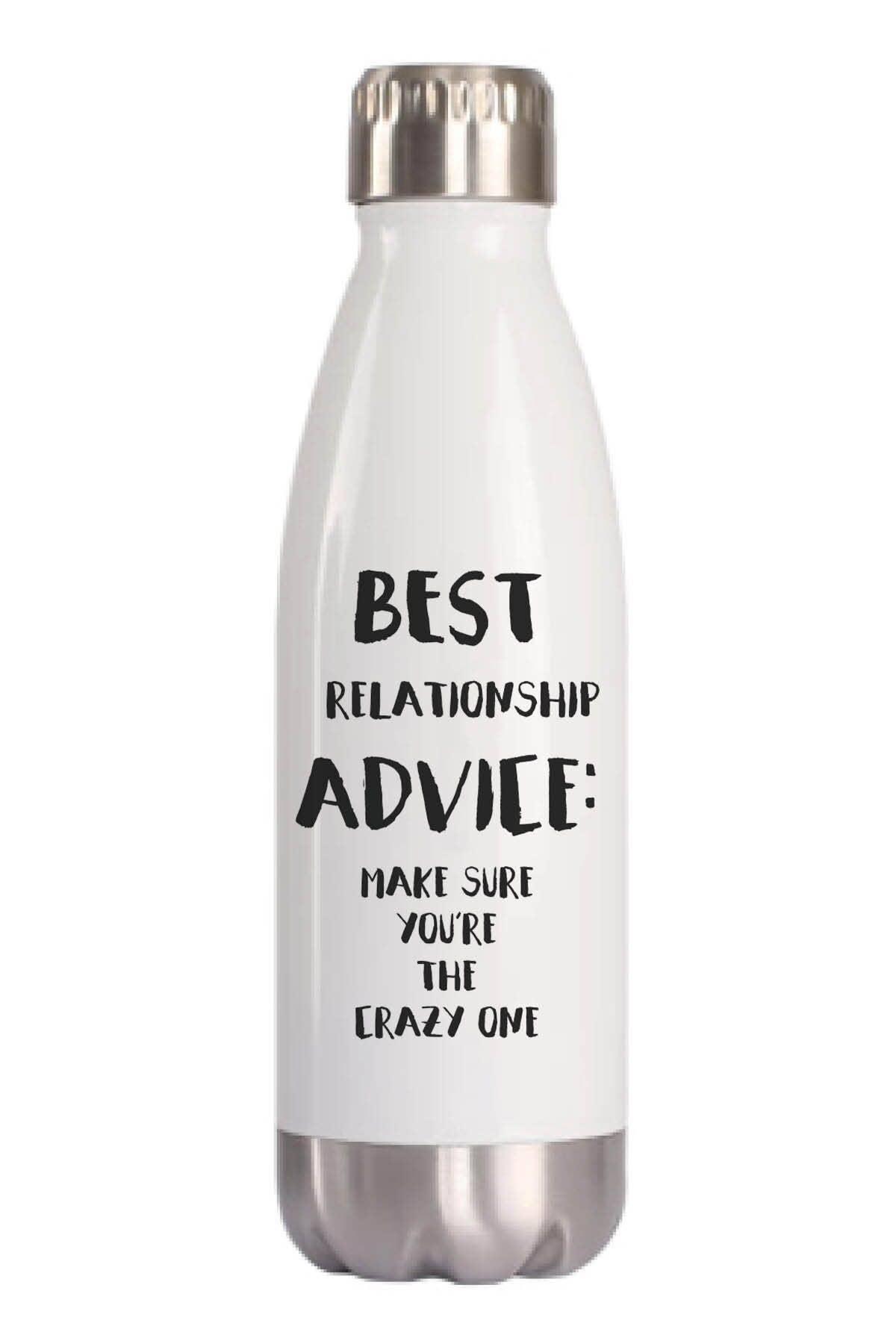 Best Relationship Advice Water Bottle | Trada Marketplace