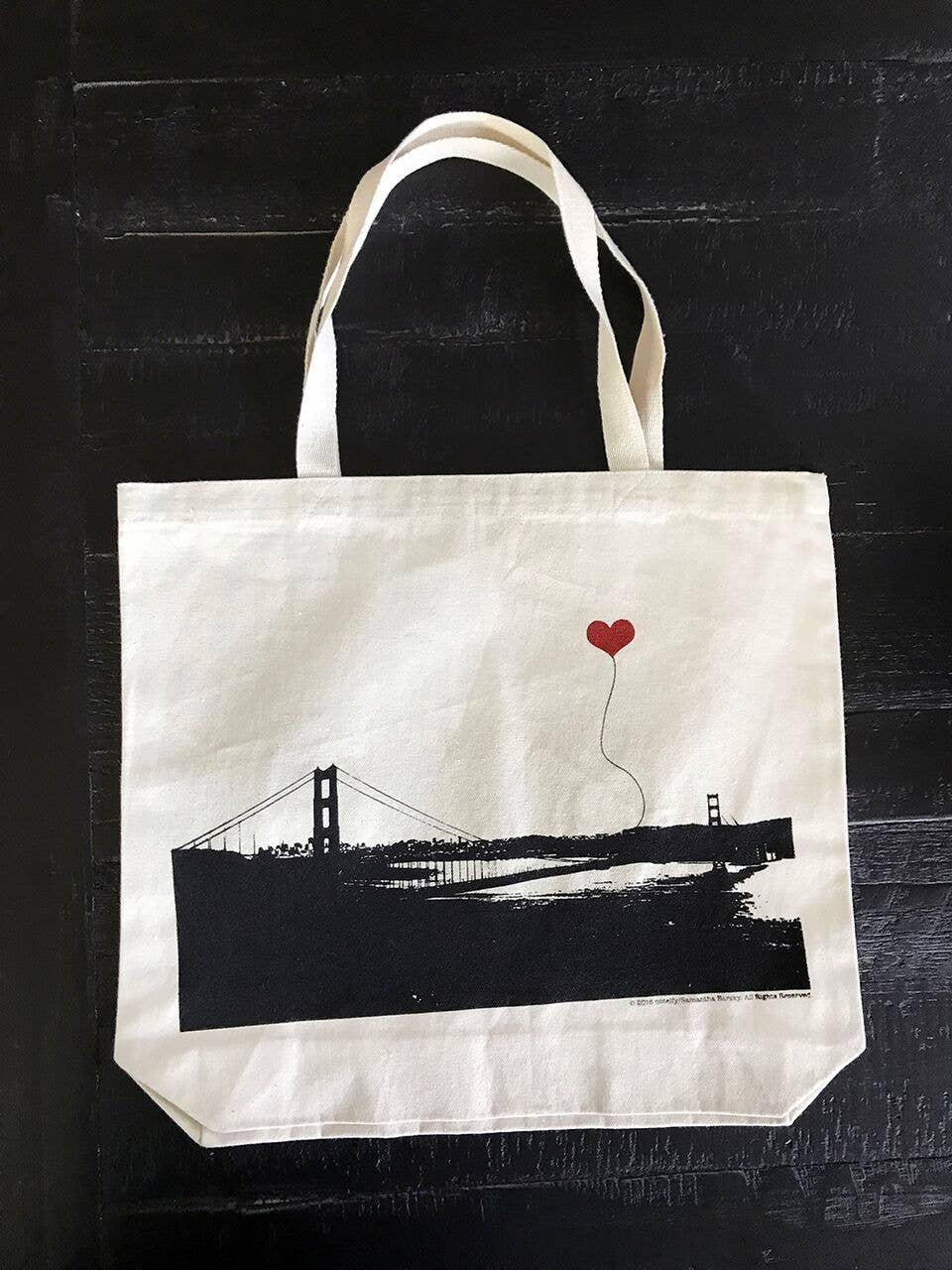San Francisco Golden Gate Bridge Wideshot Tote Bag | Trada Marketplace